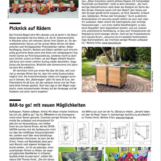 Artikel über die mobile Küche neoculina im Gastronomie Report 2016