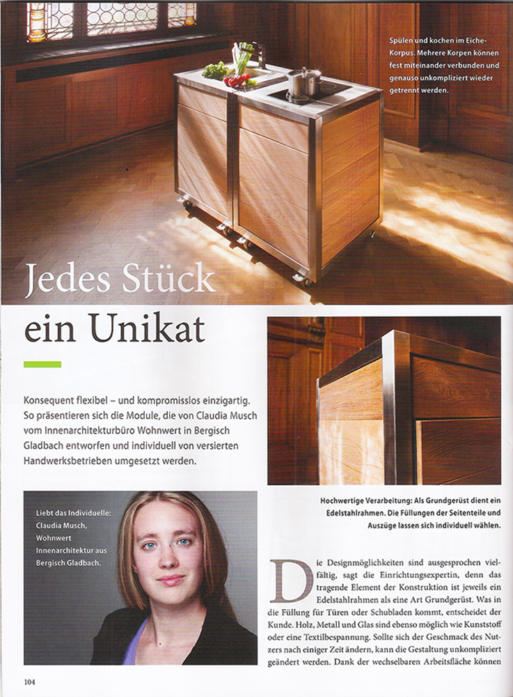 neoculina in der zeitschrift inwohnen neoculina. Black Bedroom Furniture Sets. Home Design Ideas