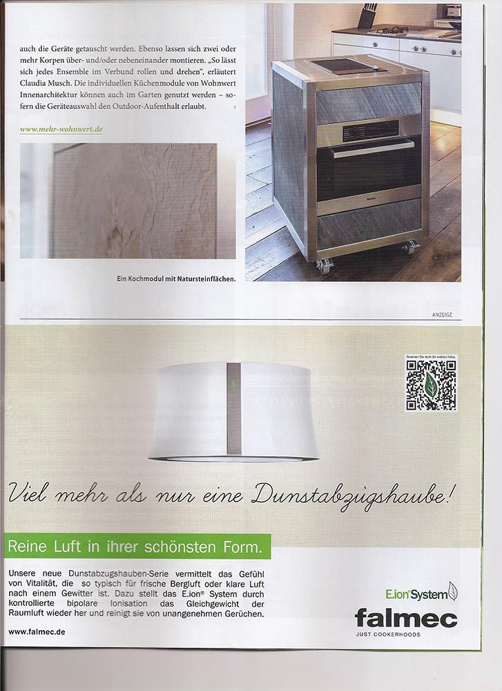 Artikel über die Modulküche Neoculina in der Zeitschrift Inwohnen