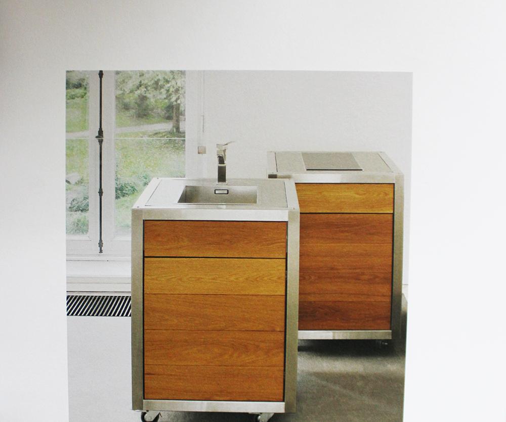 Die Modulküche neoculina im Ausstellungskatalog Kunst und Küche Villa Zanders