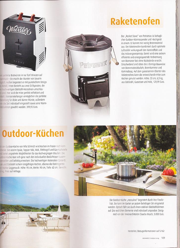 Artikel über die Outdoor-Küche Neoculina im Magazin Outdoor-Living