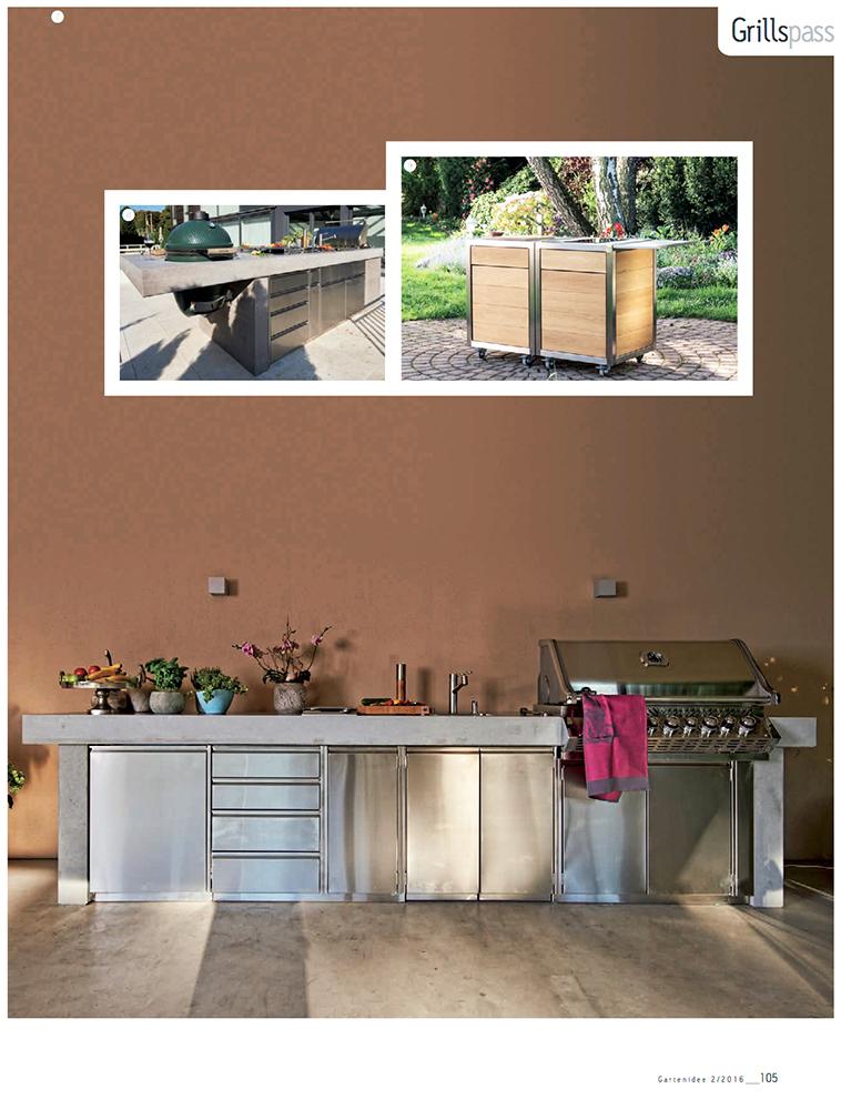 Bericht über die mobile Küche Neoculina im Trendmagazin Gartenidee