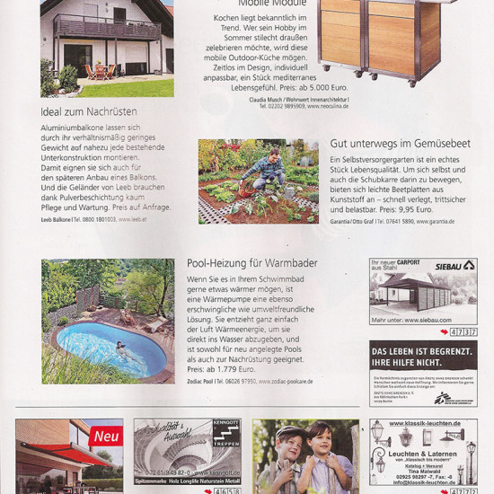 Artikel über das mobile Küchenmodul Neoculina von Wohnwert Innenarchitektur im Magazin Wohnen